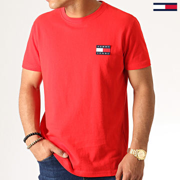 Tommy Jeans - Tee Shirt Badge 6595 Rouge