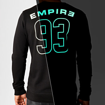 93 Empire - Sweat Crewneck Glow In The Dark Dossard Noir