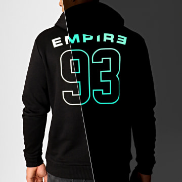 93 Empire - Sweat Capuche Glow In The Dark Dossard Noir
