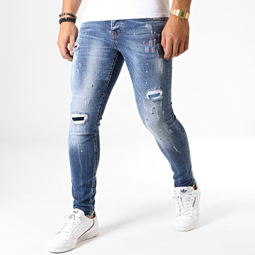 GRJ Denim - Jean Slim 13847 Bleu Denim