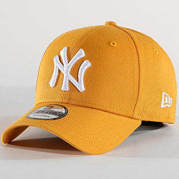 Casquette Baseball 9Forty League Essential New York Yankees 80636013 Jaune Moutarde Blanc