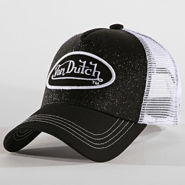Von Dutch - Casquette Trucker Flak Noir Blanc