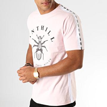 Tee Shirt Tape Rose Blanc Noir