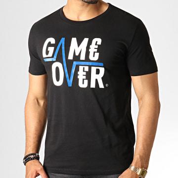 Game Over - Tee Shirt Game Over Noir Bleu