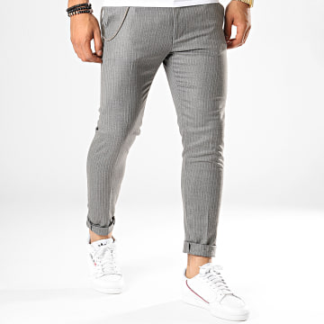 Ikao - Pantalon A Rayures F576 Gris