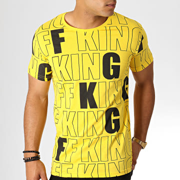 King Off - Tee Shirt KG36 Jaune Noir