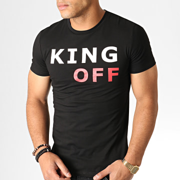 King Off - Tee Shirt A066 Noir Blanc Rouge