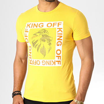 King Off - Tee Shirt Strass A071 Jaune