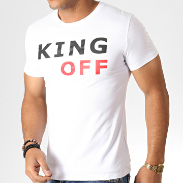 King Off - Tee Shirt A066 Blanc Noir Rouge