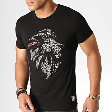 King Off - Tee Shirt A062 Noir Blanc Rouge