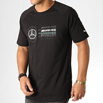 Tee Shirt Mercedes AMG Petronas Logo 577409 Noir Blanc Vert