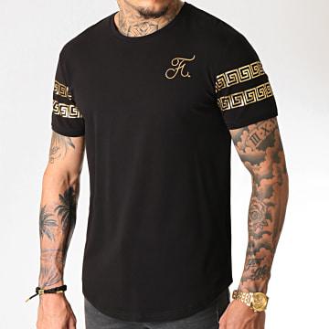 Tee Shirt Oversize Renaissance Avec Broderie Or 280 Noir