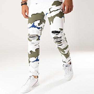 Jean Slim A2398 Blanc Camouflage