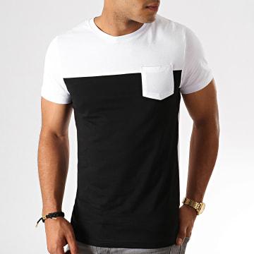 LBO - Tee Shirt Poche 749 Noir Blanc