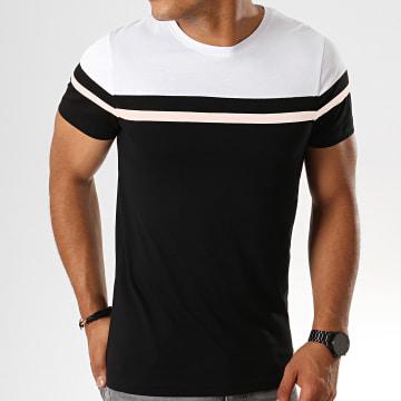 Tee Shirt Tricolore 800 Noir Rose Blanc