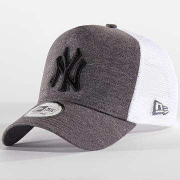 New Era - Casquette Trucker Jersey 9 New York Yankees 12135433 Gris Chiné Blanc Noir