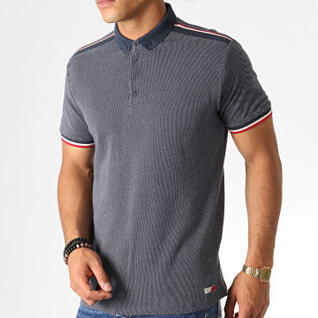 Polo Manches Courtes Daryl Bleu Rouge Beige