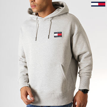 Tommy Jeans - Sweat Capuche Badge 6593 Gris Chiné