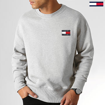 Sweat Crewneck Badge 6592 Gris Chiné