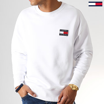 Sweat Crewneck Badge 6592 Blanc