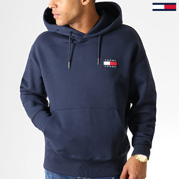 Sweat Capuche Badge 6593 Bleu Marine