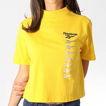 Reebok - Tee Shirt Femme Crop Classics Vector EB4246 Jaune