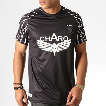 Charo - Tee Shirt Championship WY4789 Noir Blanc