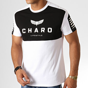 Charo - Tee Shirt Structured WY4764 Blanc Noir