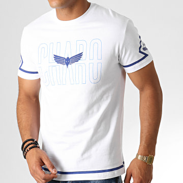 Charo - Tee Shirt Square WY4767 Blanc Bleu