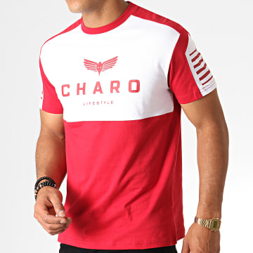 Charo - Tee Shirt Structured WY4784 Rouge Blanc