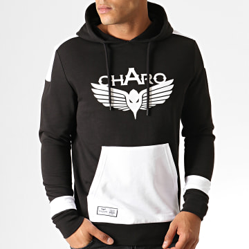 Charo - Sweat Capuche Unlimited WY4790 Noir Blanc