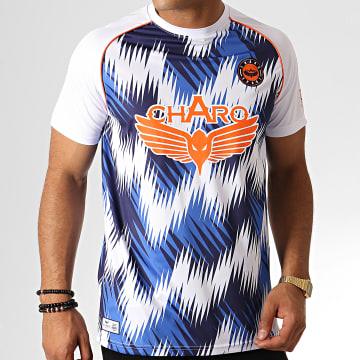 Tee Shirt Championship WY4788 Blanc Bleu Orange
