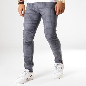 Classic Series - Pantalon Carreaux M-3162 Gris Noir