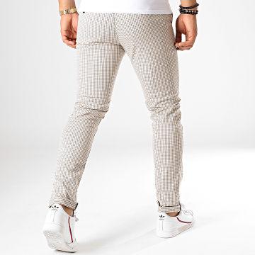 Classic Series - Pantalon Carreaux M-3164 Ecru Noir