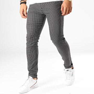 Classic Series - Pantalon Carreaux M-3153 Noir Blanc