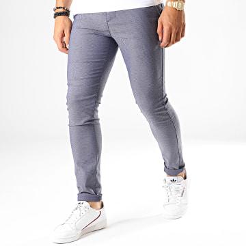 Classic Series - Pantalon Chino M-3142 Bleu Indigo Blanc