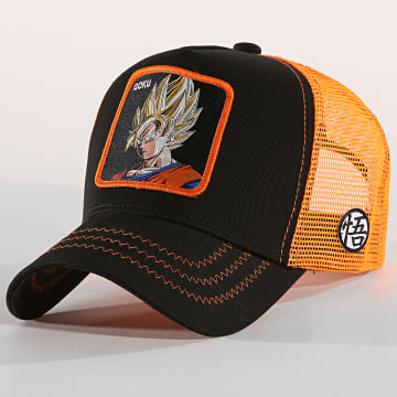 Casquette Trucker Goku Noir Orange