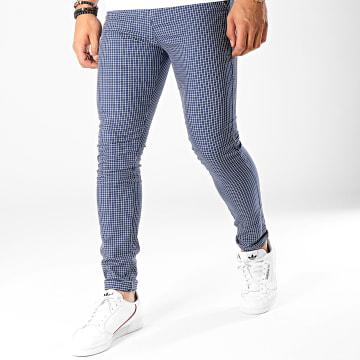 Classic Series - Pantalon Carreaux M-3147 Bleu Marine