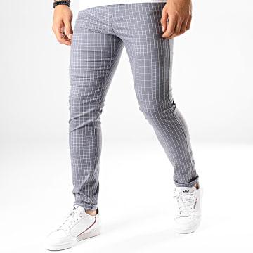 Classic Series - Pantalon Carreaux M-3148 Gris Blanc