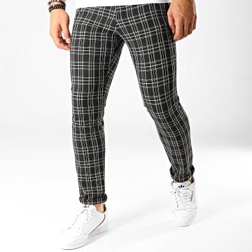 Armita - Pantalon Carreaux PA-7105 Noir Blanc