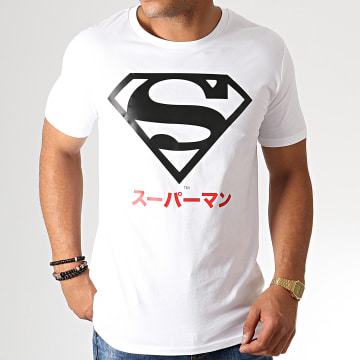 DC Comics - Tee Shirt Superman Japan Blanc