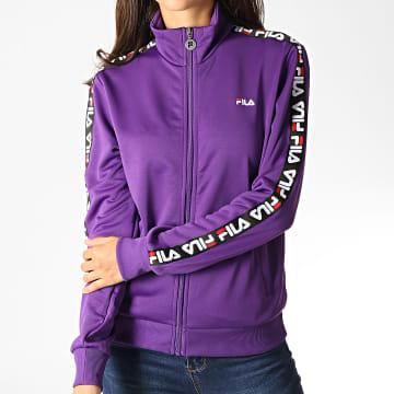 Veste Zippée Femme A Bandes Talli 687069 Violet