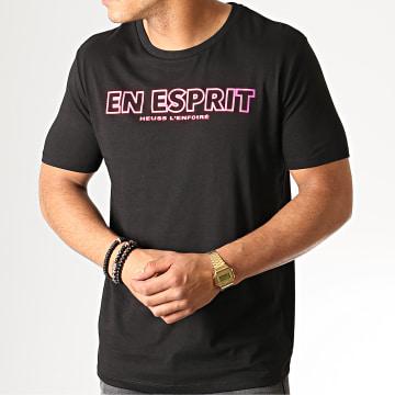 Heuss L'Enfoiré - Tee Shirt En Esprit Noir Fluo Rose