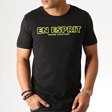 Tee Shirt En Esprit Noir Fluo Jaune