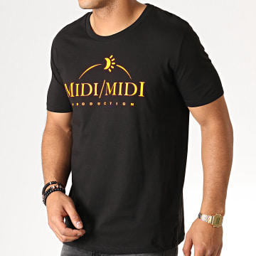 Heuss L'Enfoiré - Tee Shirt Midi Midi Noir Fluo Orange