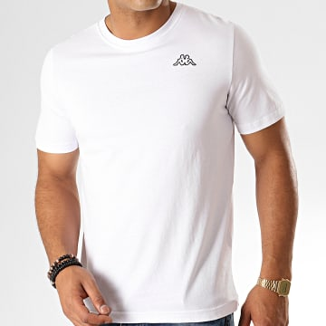 Kappa - Tee Shirt Logo Cafers 304J150 Blanc