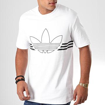 Adidas Originals - Tee Shirt Outline Trefoil ED4700 Blanc Noir