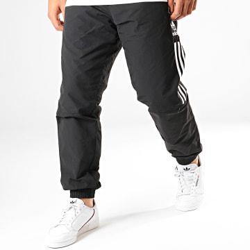 Adidas Originals - Pantalon Jogging A Bandes Lock Up ED6097 Noir Blanc