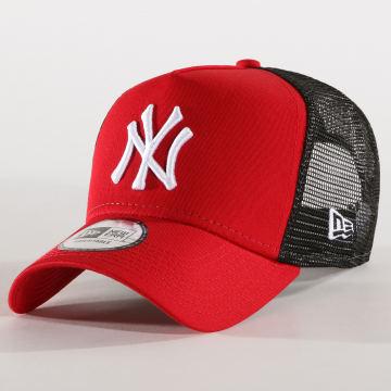 New Era - Casquette Trucker Core 94 New York Yankees Rouge Noir