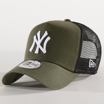 New Era - Casquette Trucker Core 94 New york Yankees Vert Kaki Noir